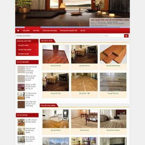 Mẫu Website Sàn Gỗ Cao Cấp WBT1273