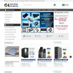 Mẫu Website Sửa Chữa Mua Bán Máy Tính WBT1267