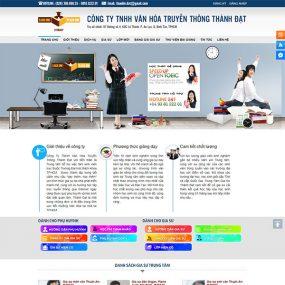 Mẫu Website Trung Tâm Gia Sư WBT1279