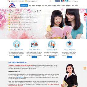Mẫu Website Trung Tâm Gia Sư WBT1280