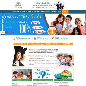 Mẫu Website Trung Tâm Gia Sư WBT1281