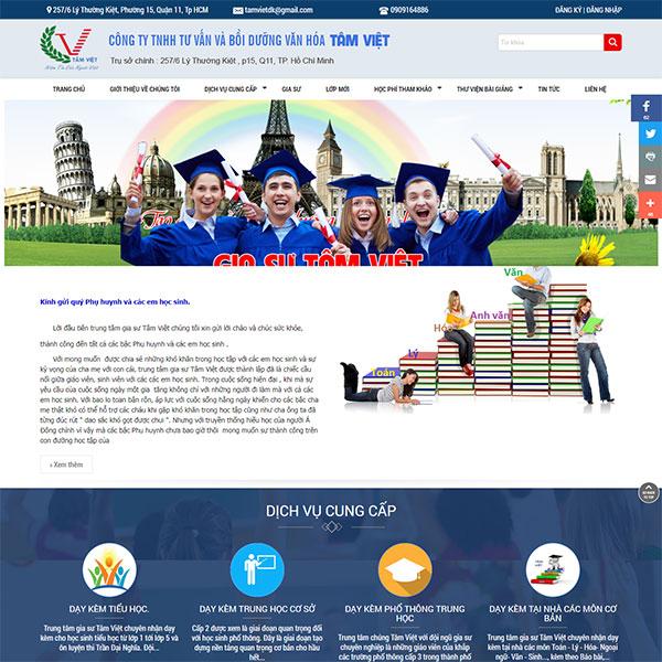 Mẫu website trung tâm gia sư WBT1283