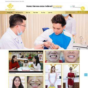 Mẫu Website Trung Tâm Nha Khoa Thẩm Mỹ WBT1226