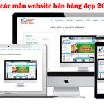 Các Mẫu Website Bán Hàng đẹp Trong Năm 2018