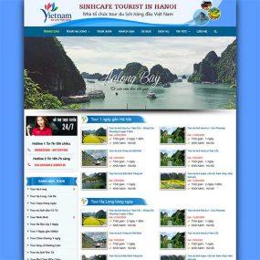 Mẫu Website Du Lịch WBT191
