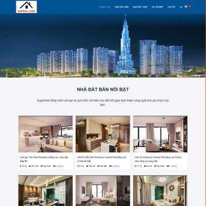 Mẫu Website Bất động Sản Bán Nhiều Dự án WBT182
