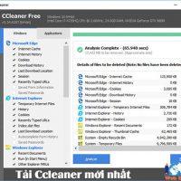 Tải Ccleaner Mới Nhất – Phần Mềm Dọn Dẹp Máy Tính Chuyên Nghiệp