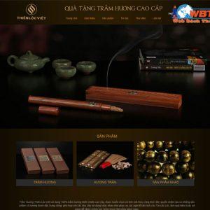 Thiết Kế Website Bán Thác Khói Trầm Hương
