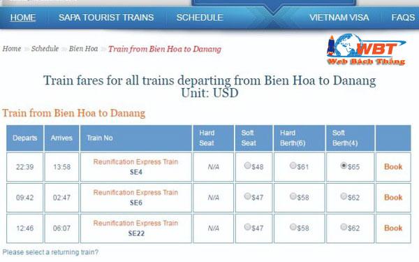 Dịch Vụ Thiết Kế Website Bán Vé Tàu Hỏa