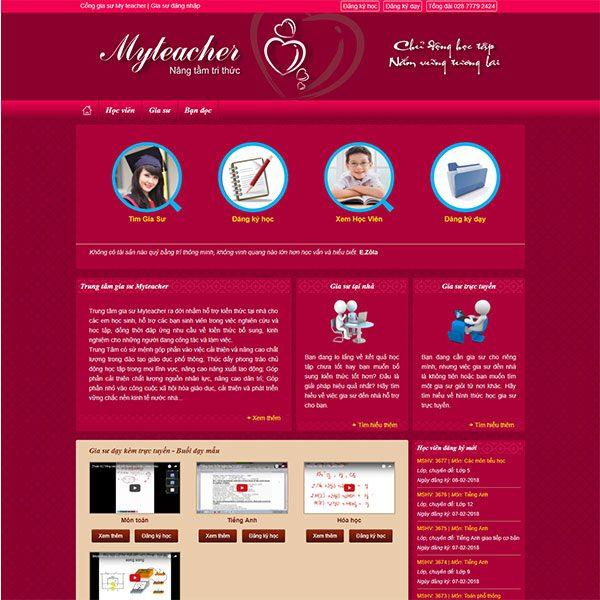 Mẫu Website Trung Tâm Gia Sư WBT1288