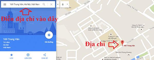 nhúng google map vào website