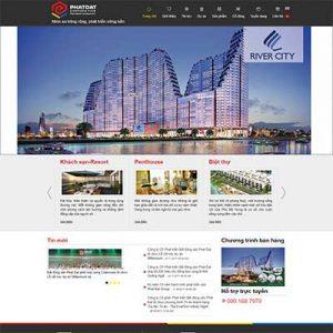 Mẫu Website Công Ty Bất động Sản WBT1307