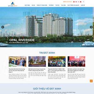 Mẫu Website Công Ty Bất động Sản WBT1308