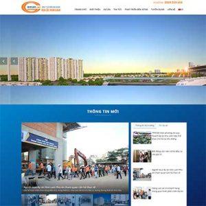 Mẫu Website Công Ty Bất động Sản WBT1309