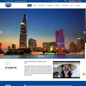 Mẫu Website Công Ty Sắt Thép WBT1310