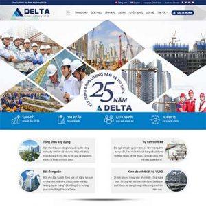 Mẫu Website Công Ty Xây Dựng WBT1302