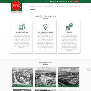 Mẫu Website Công Ty Xây Dựng WBT1305