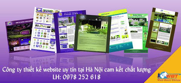 Công ty thiết kế website uy tín tại Hà Nội cam kết chất lượng