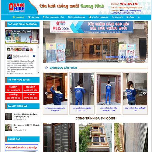 Dự án Web Thi công lắp đặt cửa lưới chống muỗi Quang Minh