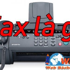 Nghĩa Của Fax Là Gì