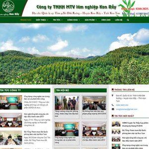 Mẫu Website Công Ty Lâm Nghiệp Kon Rẫy WBT1322