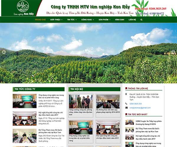 Dựa án web Công Ty Lâm Nghiệp Kon Rẫy WBT đã hoàn thành