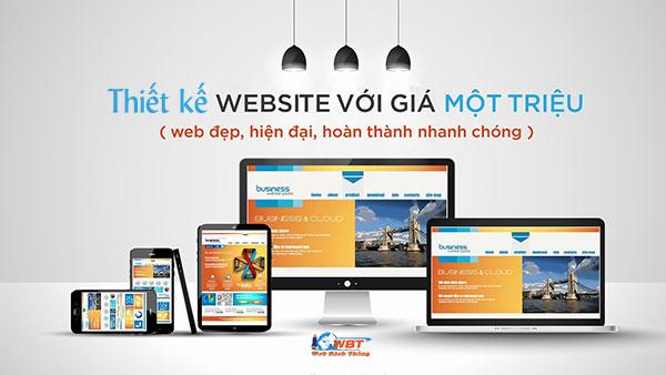 Thiết kế website 1 triệu