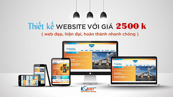 Thiết kế website 2500k