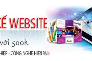 Thiết Kế Website 500k Nhiều Mẫu đẹp Chuẩn SEO Chất Lượng Tốt Nhất