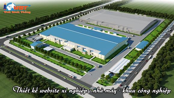 Thiết kế website xí nghiệp - khu công nghiệp - nhà máy