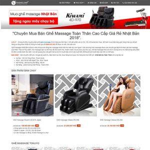 Mẫu Website Bán Ghế Massage WBT1325