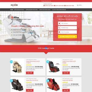 Mẫu Website Bán Ghế Massage WBT1328