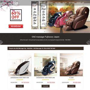 Mẫu Website Bán Ghế Massage WBT1329