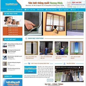 Mẫu Website Cửa Chống Muỗi Quang Minh WBT1321