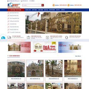 Mẫu Website Cửa Nhôm đúc WBT1320