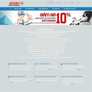 Mẫu Website Dịch Vụ Sửa Chữa Ghế Massage WBT1327