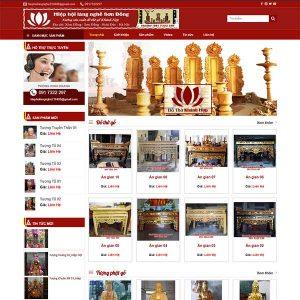 Mẫu Website đồ Thờ Tượng Phật Khánh Hợp WBT1330