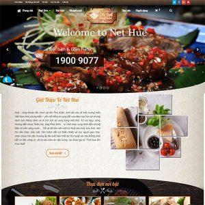 Mẫu Website Nhà Hàng ẩm Thực Nét Huế  WBT1318