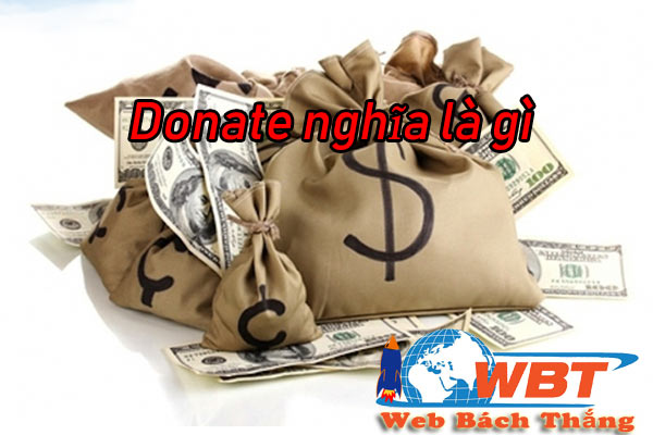Donate có nghĩa là gì