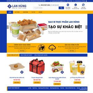 Mẫu Website Giới Thiệu Và Sản Xuất Bao Bì Thùng Carton WBT193