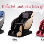 Thiết Kế Website Bán Ghế Massage Chuyên Nghiệp Chất Lượng Cao