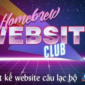 Thiết Kế Website Câu Lạc Bộ