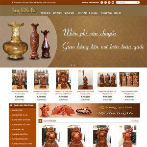 Mẫu Website đồ Gỗ Mỹ Nghệ WBT1334