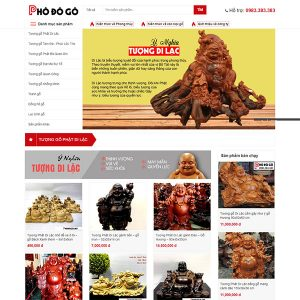 Mẫu Website đồ Gỗ Mỹ Nghệ WBT1336