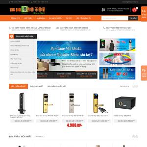 Mẫu Website Khóa Vân Tay Nhận Diện Khuôn Mặt WBT1340