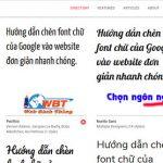 Hướng Dẫn Chèn Font Chữ Của Google Vào Website đơn Giản Nhanh Chóng.