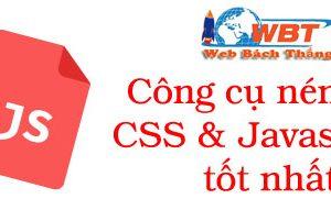 Nén Javascript Và Css