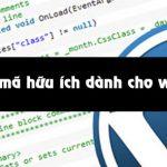 Những đoạn mã hữu ích dành cho woocommerce
