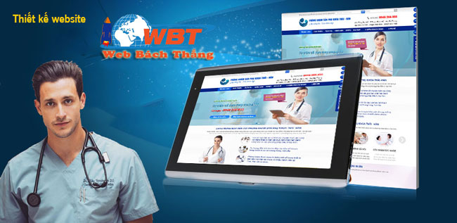 Thiết kế web phòng khám tai mũi họng chuẩn SEO
