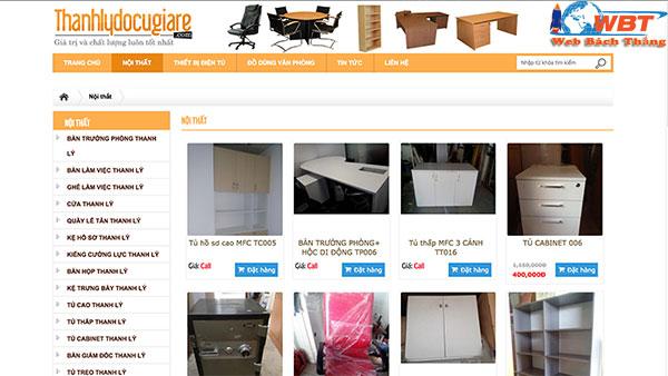 Dịch vụ thiết kế website bán đồ cũ chuyên nghiệp giá rẻ